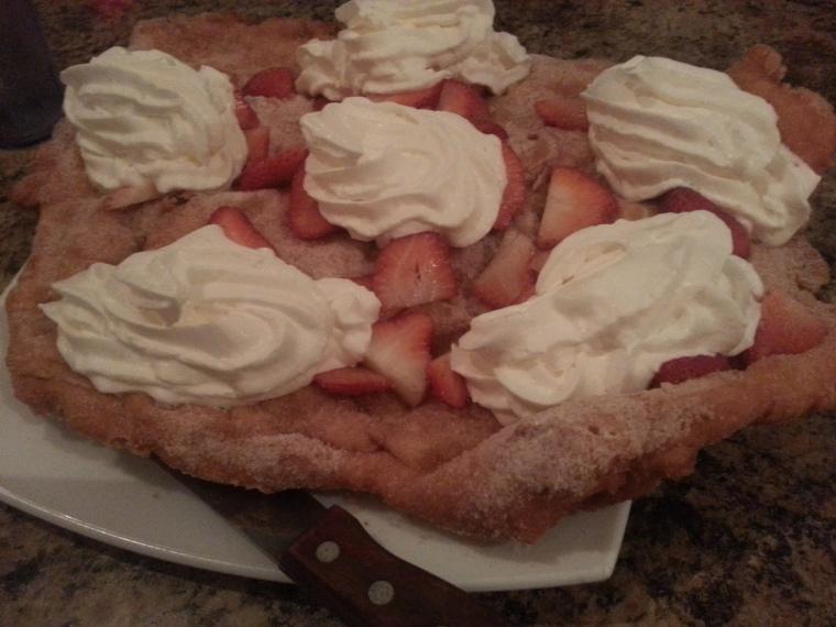 Mitch Miller's - Miller Bread with Whip Cream & Strawberries
