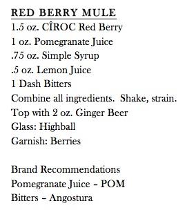 Red berry mule recipe