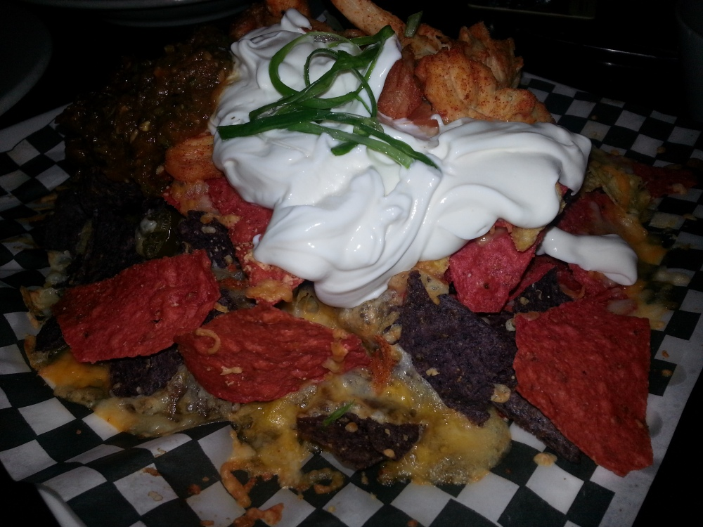The Libra Room - Nachos with Cajun Chicken
