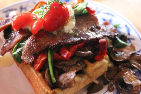 Waffle Window - The Farm Fusion with Bacon