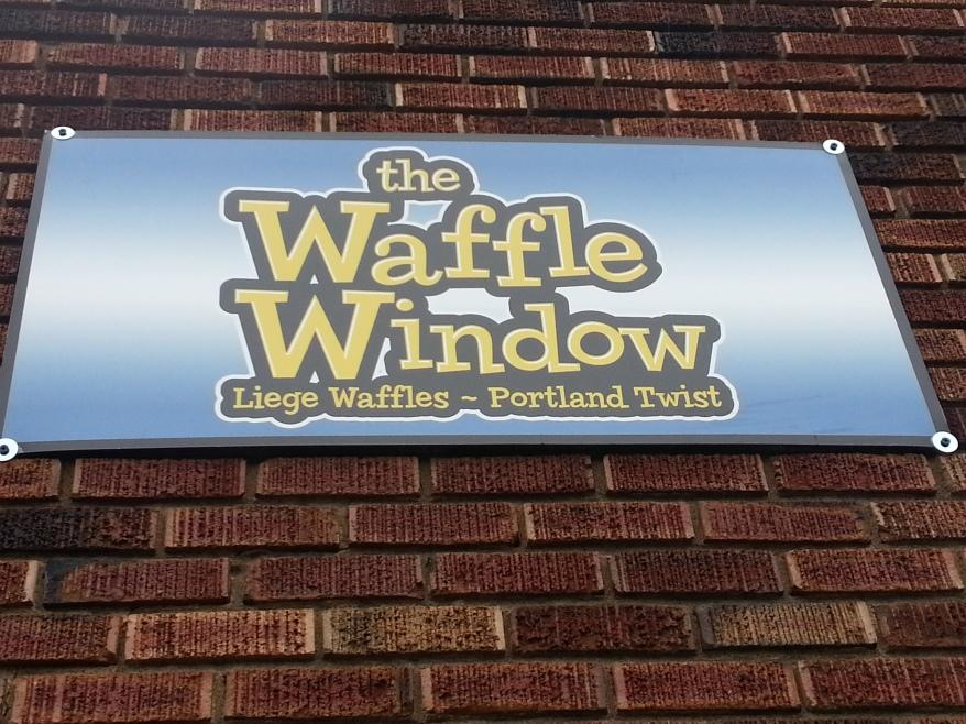 Waffle Window sign
