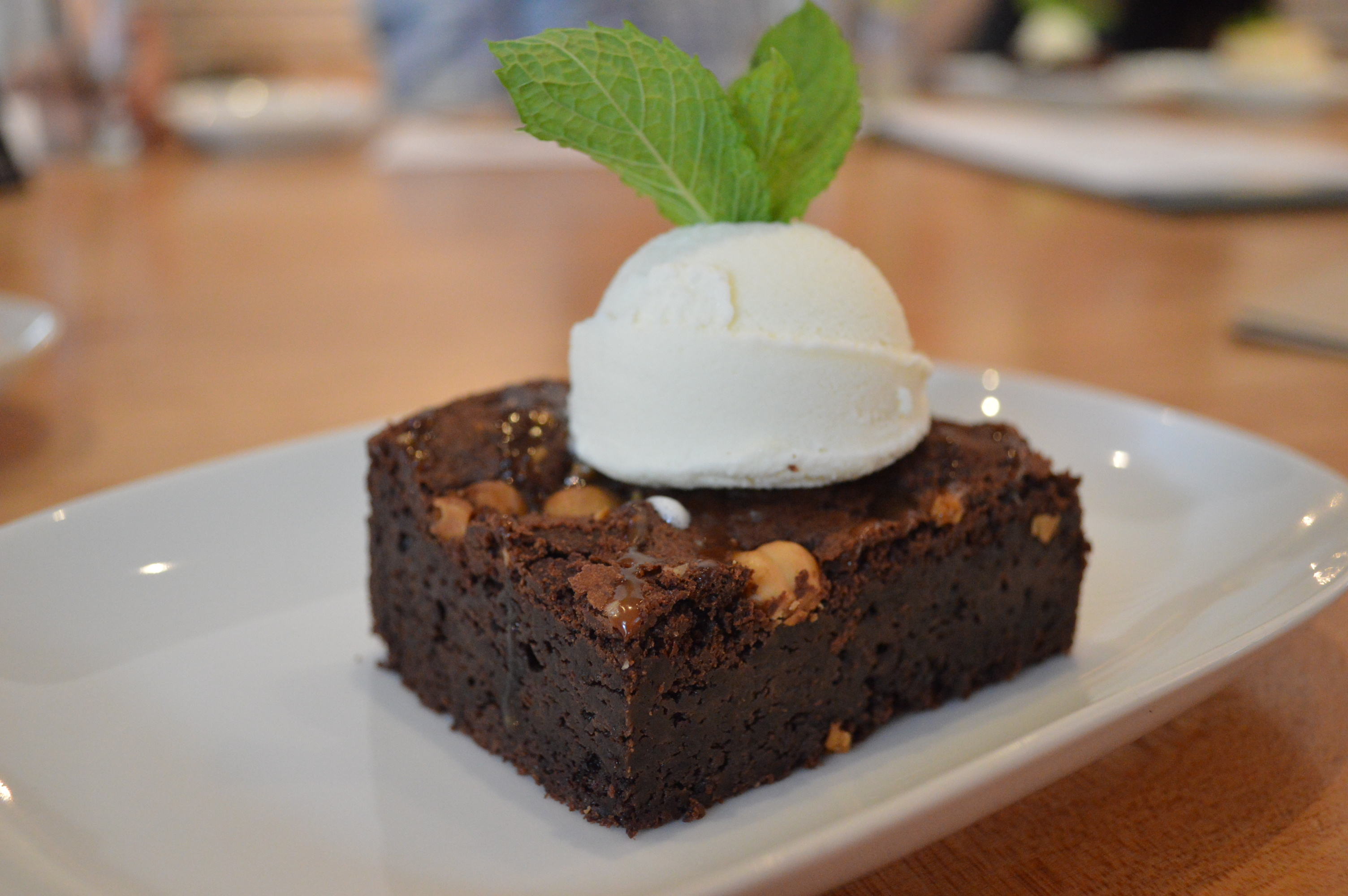 Chef kieran kearns raises the bar in gastropub dining at the charles no need to skip dessert if youre on a gluten free diet the charles bar is featuring a gluten free chocolate brownie 600 malvernweather Gallery