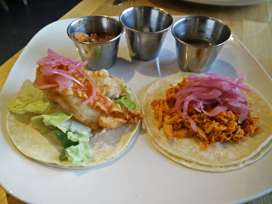The Mexican Gourmet - Fish Taco and Chicken Pibil Taco
