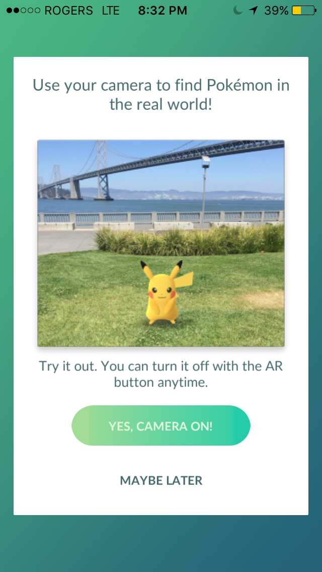 "Virtual Reality Game ""Pokémon GO"""
