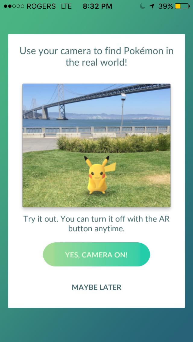 """Virtual Reality Game """"Pokémon GO"""""""