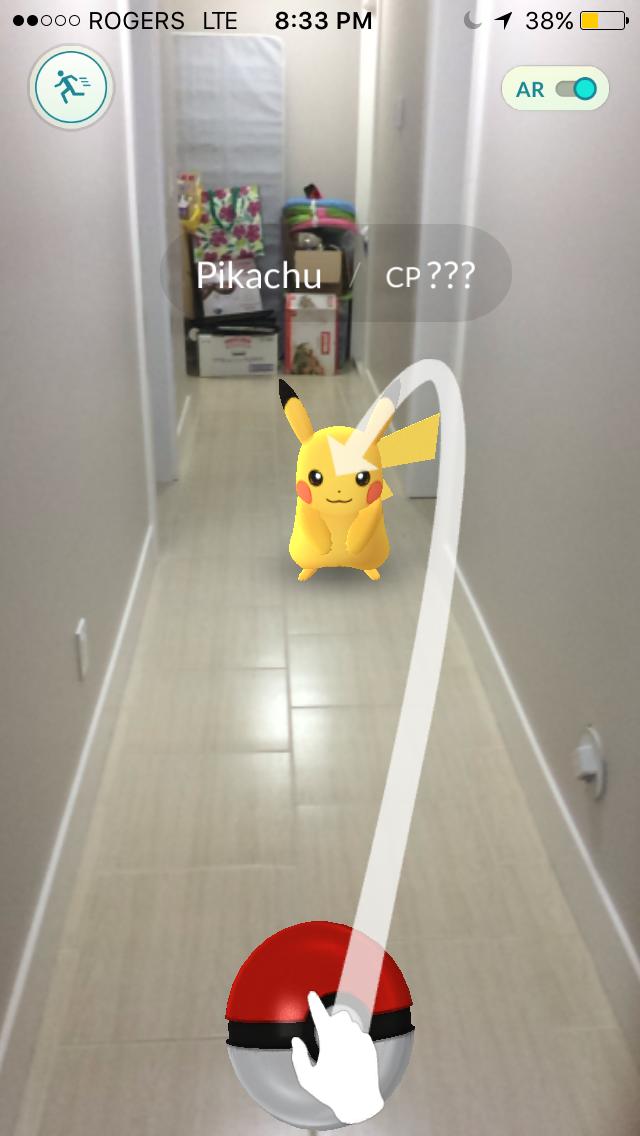 Catching the coveted Pokémon Pikachu