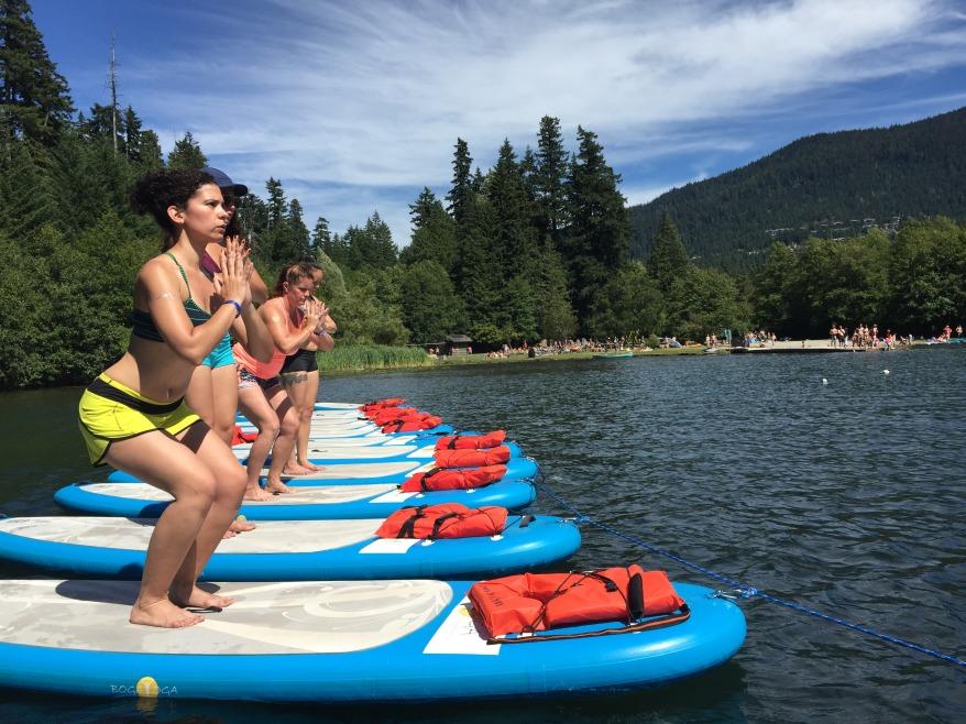 SUP Yoga at Wanderlust