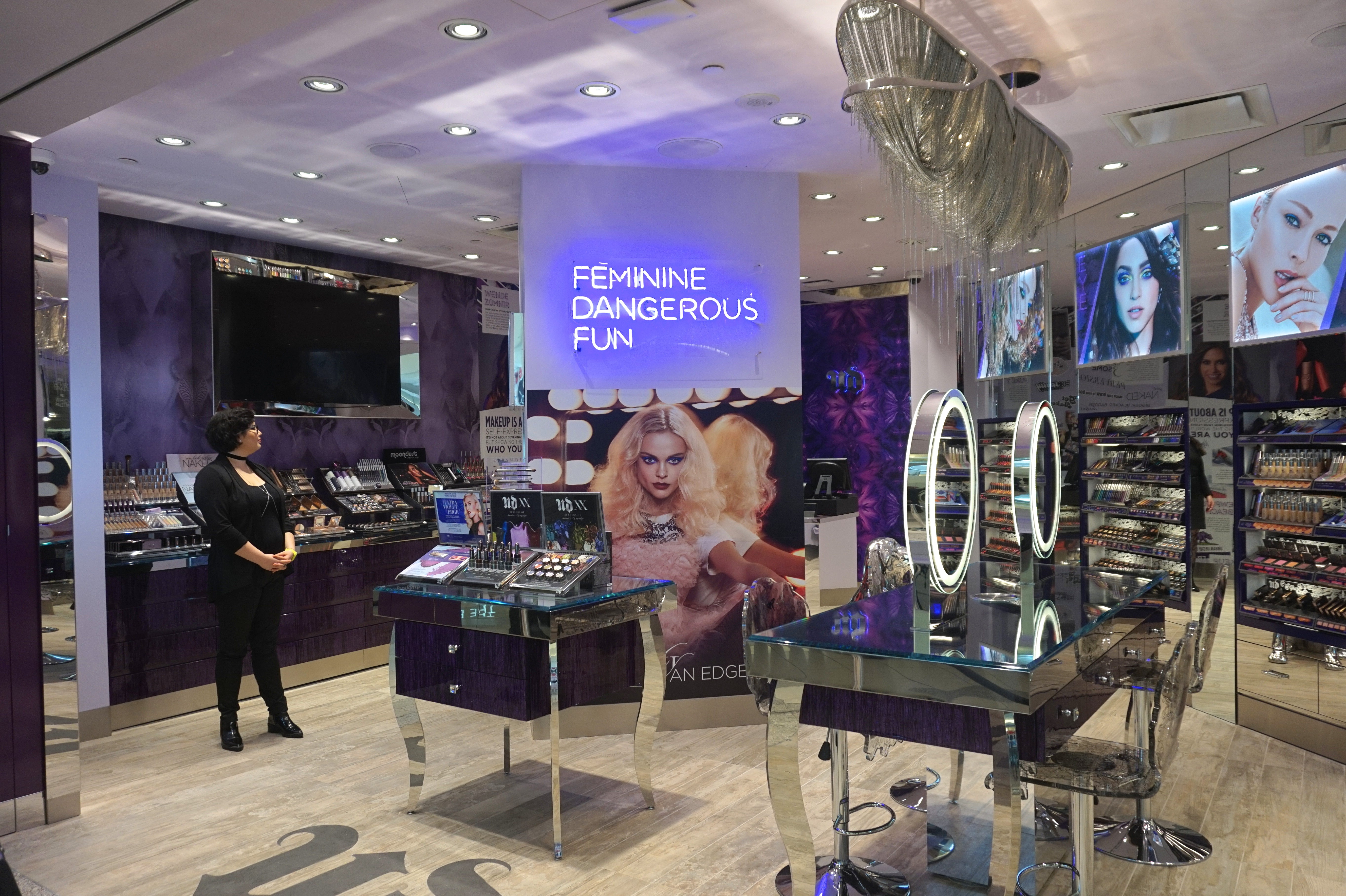 Beauty With An Edge A Sneak Peak Of The New Urban Decay Store At