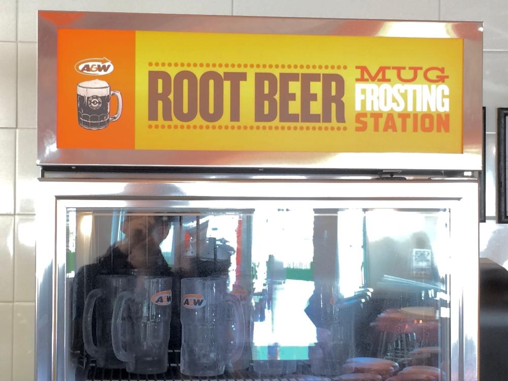 A&W Root Beer Mug Frosting Station
