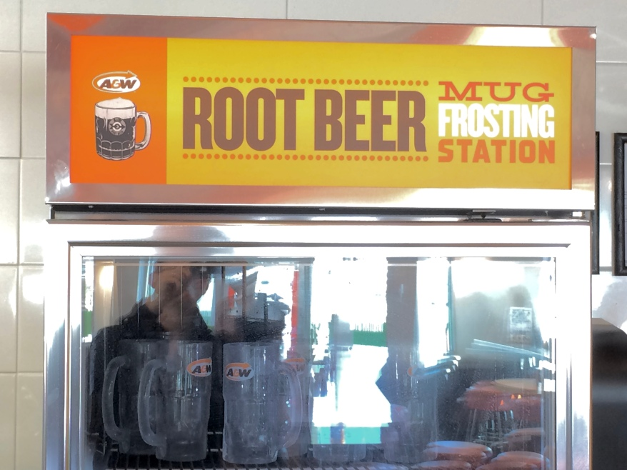 A&W Root Beer Mug Frosting Station