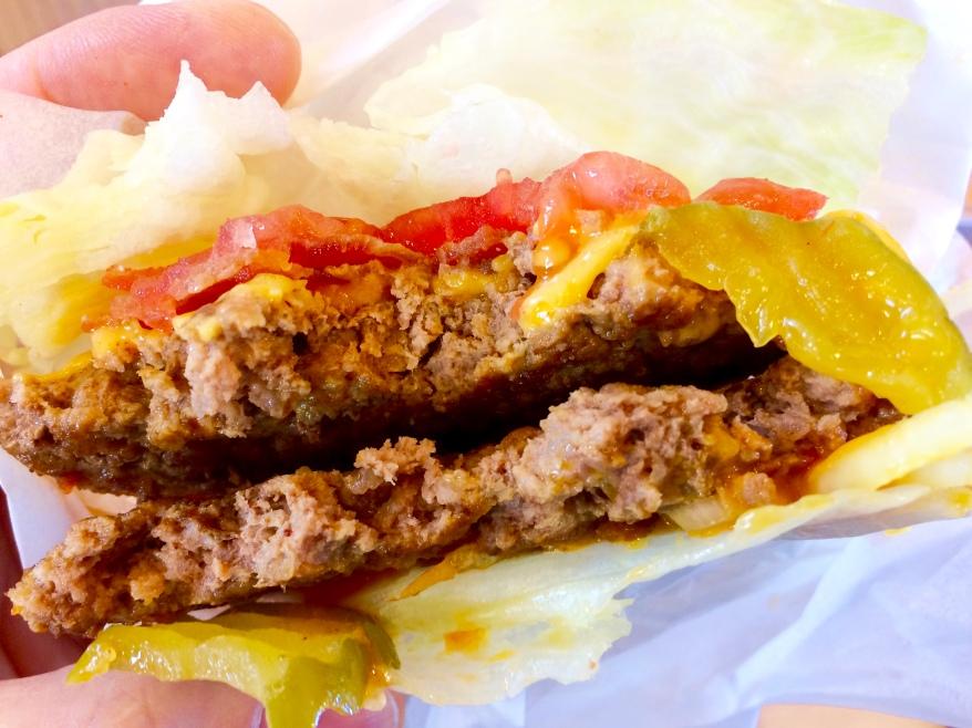 A&W Teen Burger with lettuce wrap instead of a bun