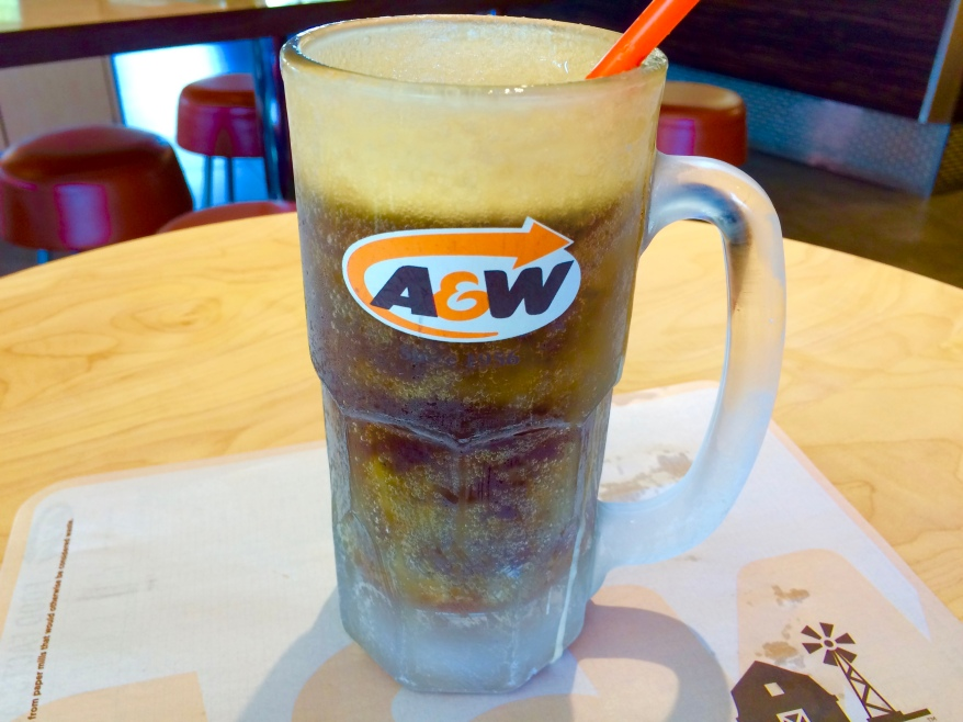 Frosted mug with diet A&W root beer